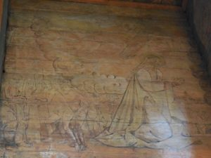 Sąd Ostateczny - fragment polichromii