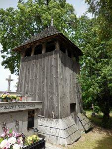 Dzwonnica obok cerkwi w Kruhelu Wielkim