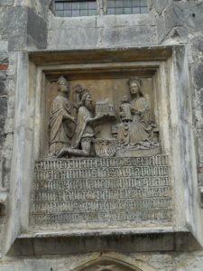 Tablica erekcyjna nad wejściem południowym